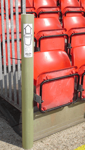 Cup-tube on a grandstand
